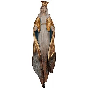 SW3308W - Our Lady Miracolous with crone root sculpture