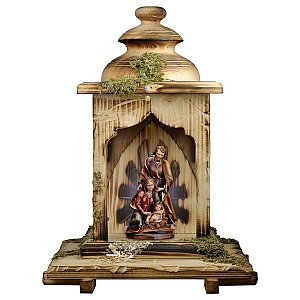 UP680LAL - Nativity Baroque + Lantern stable with light